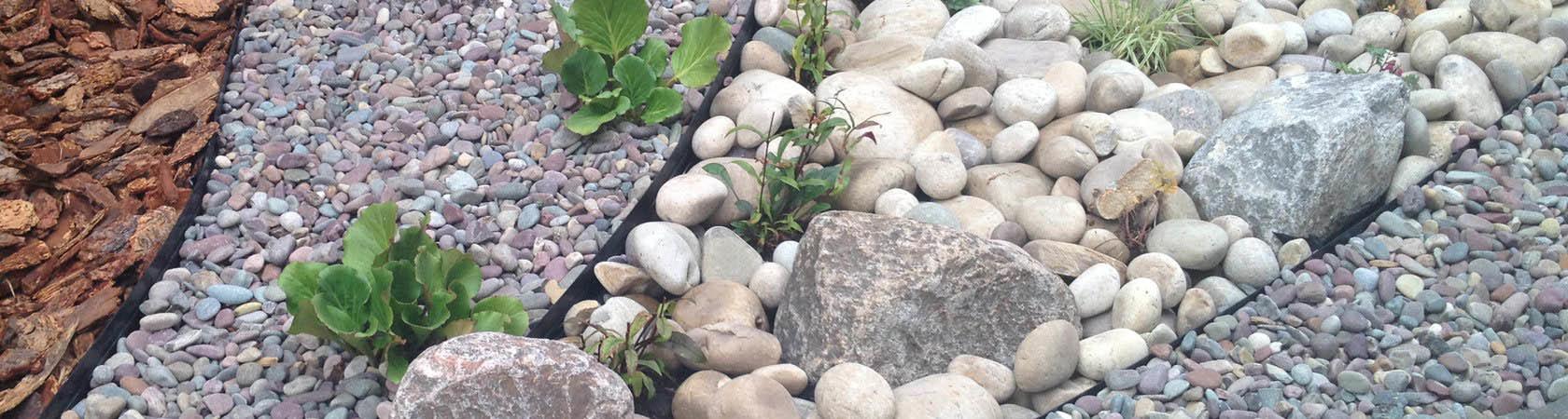 Decorative stone pebbles garden design Palmerston North